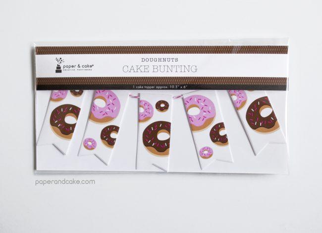 Donuts Mini-Bunting Cake Topper
