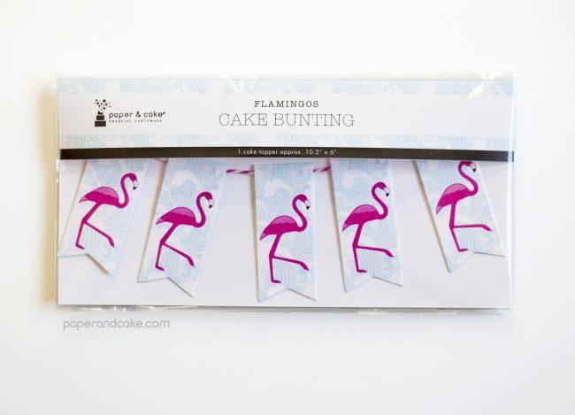 Flamingo Mini-Bunting Cake Topper