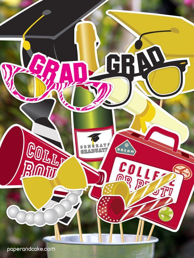 diy graduation photo booth prop kit