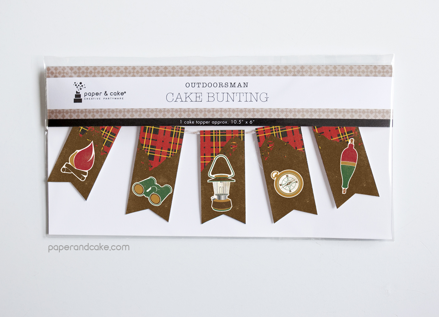 Outdoorsman Mini Bunting Cake Topper Paper And Cake