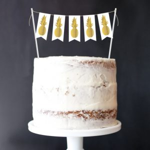 Pineapple Mini-Bunting Cake Topper