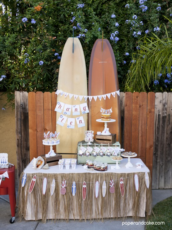 Surf's Up printable party