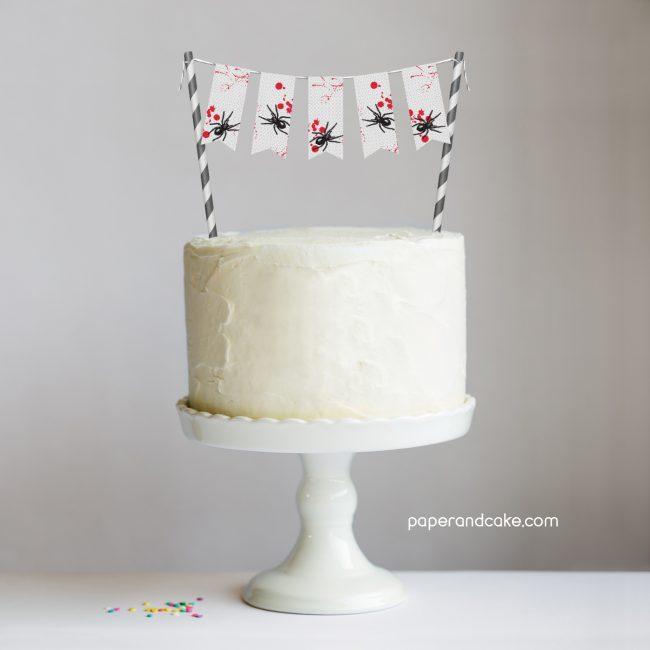 Bloody Halloween Mini-Bunting Cake topper