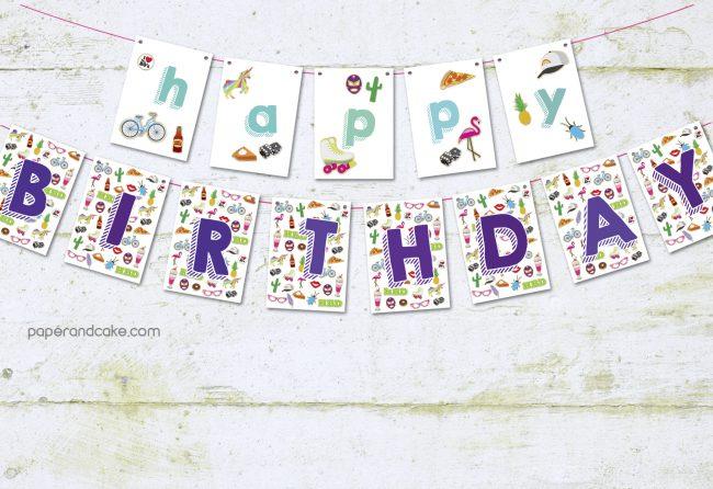 enamel pin flair birthday banner
