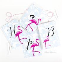 Flamingo Happy Birthday Pennant Banner