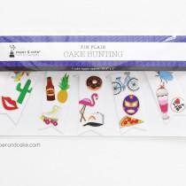 Pin Flair Mini-Bunting Cake Topper