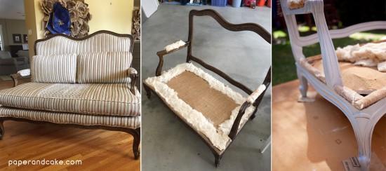 DIY refurbished settee