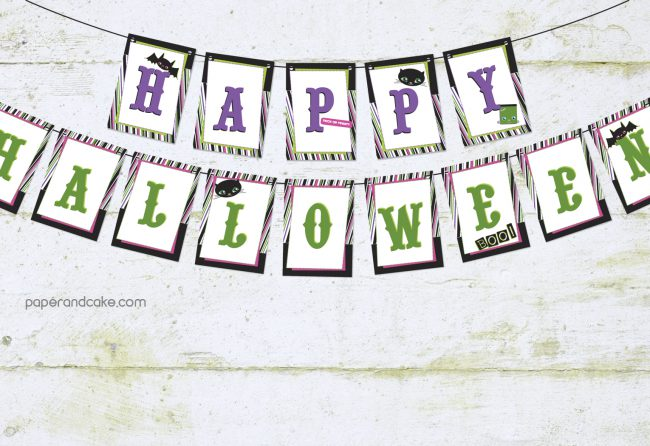 Trick or Treat Halloween Pennant Banner