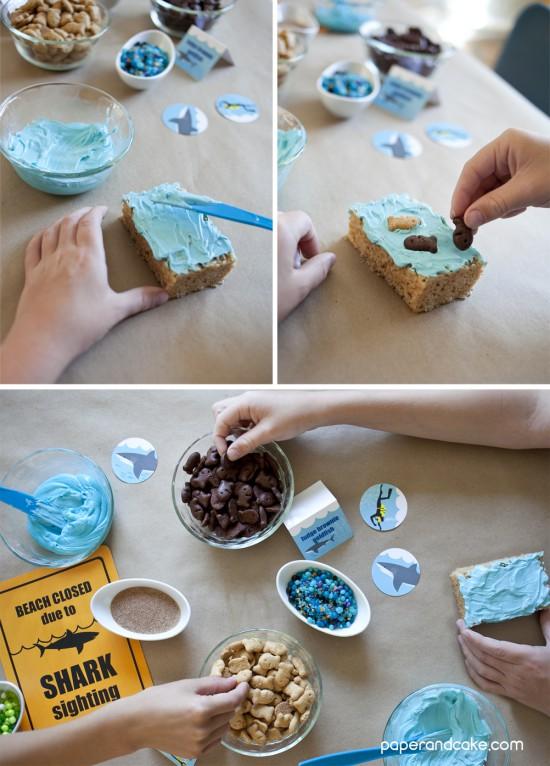 kids Shark party craft