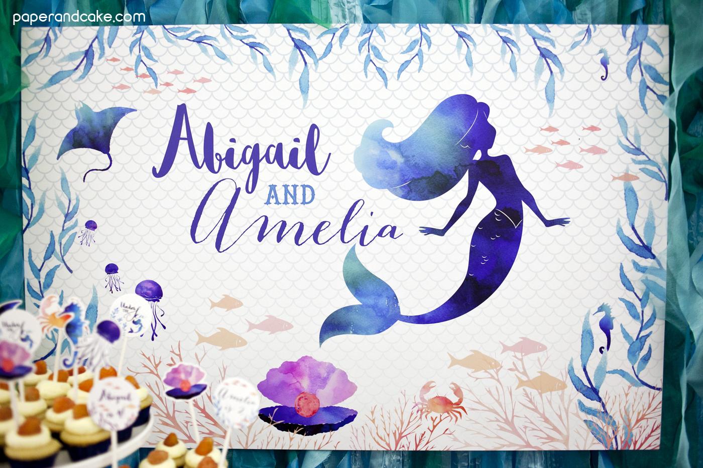 Mermaid St Birthday Cake