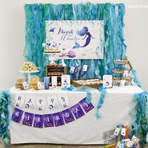 Mermaid Under the Sea printable birthday party