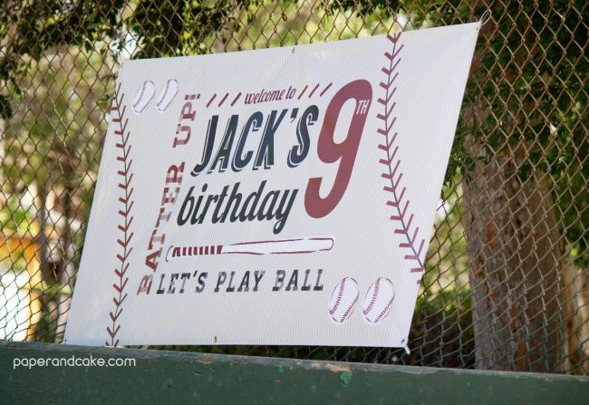 baseball birthday sponsor banner