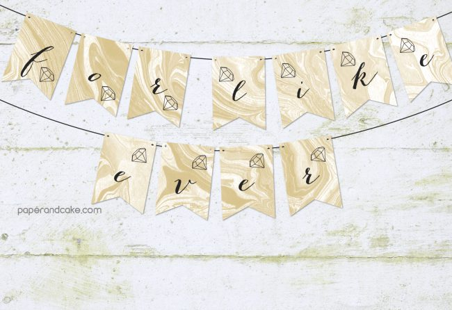 For Like Ever bridal banner