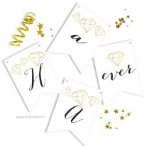 Happily ever After Bridal Pennant Banner