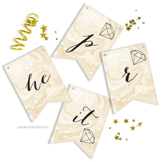 He Put a Ring on it Bridal Pennant Banner