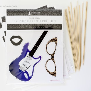 Rock Star Photo Booth Props DIY Kit