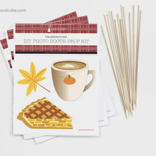 Thanksgiving Photo Booth Props DIY Kit