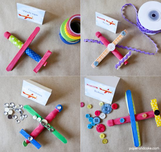 Airplane Birthday Party Craft