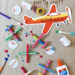 airplane party craft pin
