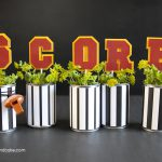crafty football centerpieces