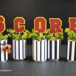crafty football centerpieces