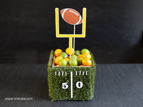 Crafty Football Party Centerpieces