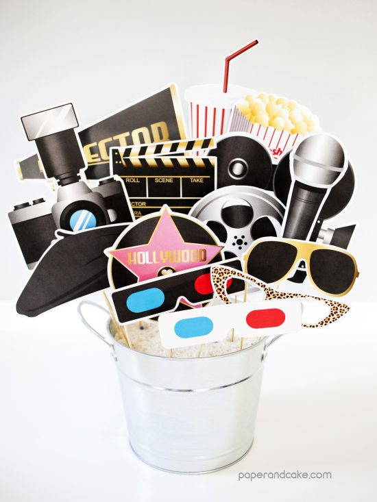 hollywood movie photo booth props