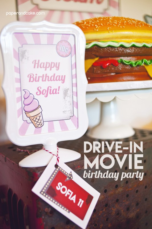 drive in movie printables