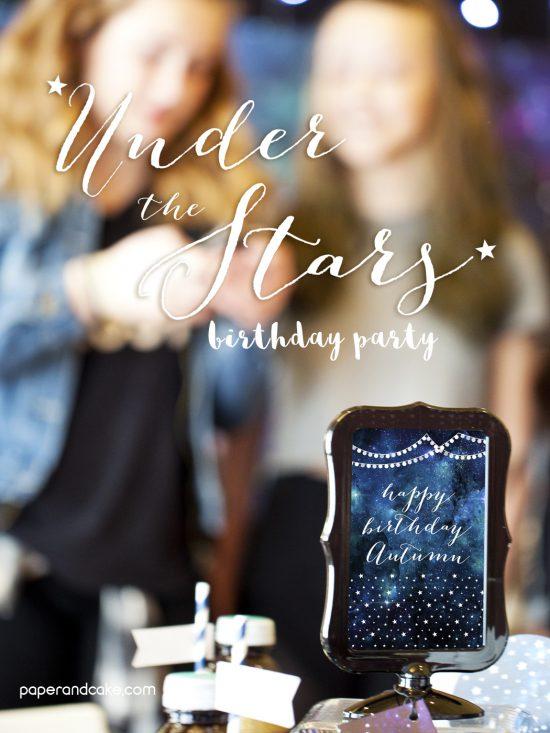 printable galaxy birthday party
