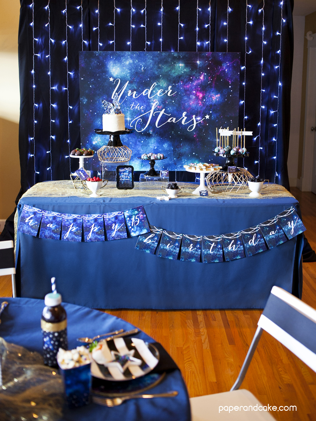 The Star System: Under The Stars Galaxy Printable Party