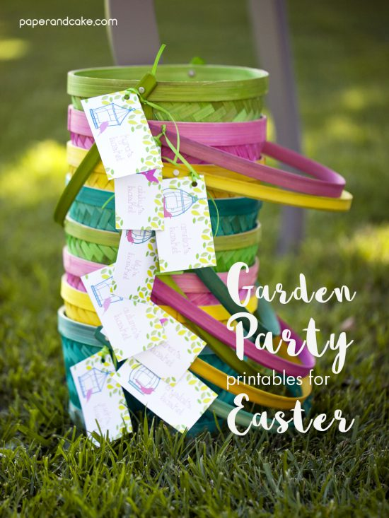 garden printable party decor