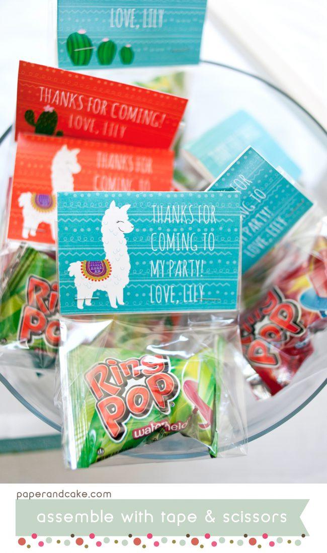 alpaca llama printable partyparty