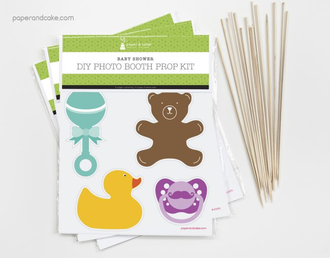 Baby Shower Photo Booth Props DIY Kit