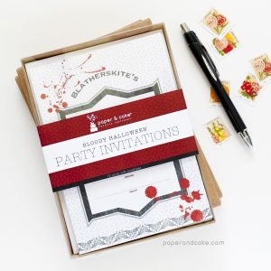 Bloody Halloween Fill-In Invitations