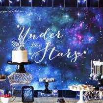 Under the Stars Galaxy Backdrop Banner