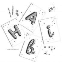 Silver Balloon Letters Birthday Banner