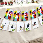 bug birthday banner