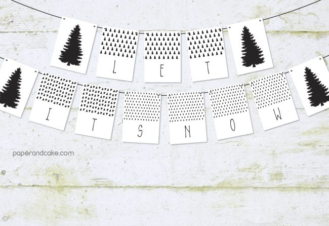 Let it Snow Pennant Banner