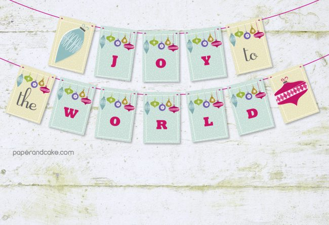 Joy to the World Pennant Banner