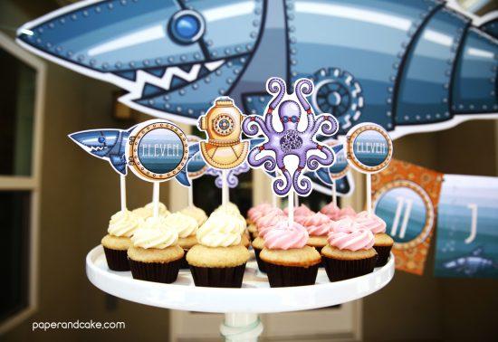 Marine Steampunk Birthday Party decorations