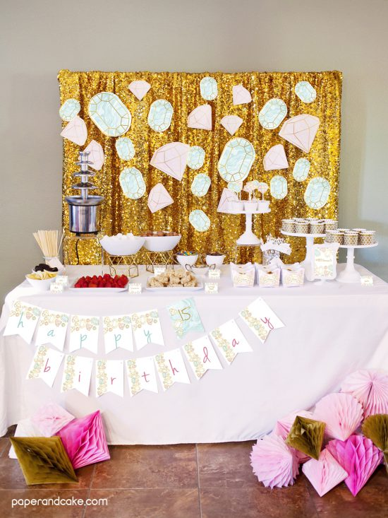 Gemstone Birthday Party Ideas