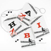 BMX Happy Birthday Pennant Banner