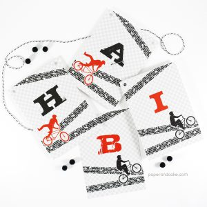 BMX Happy Birthday Pennant Banner