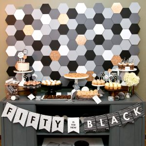black and white printable party