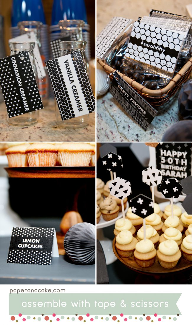 black and white printable party 4