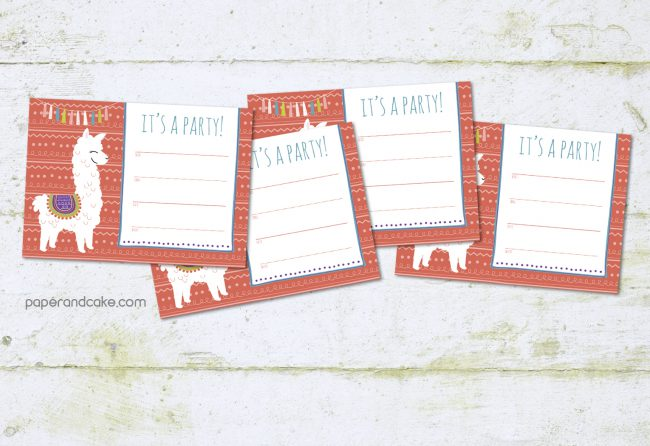 alpaca fill in party invitations