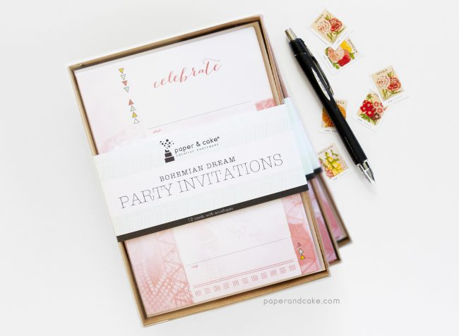 Bohemian Fill-In Invitations