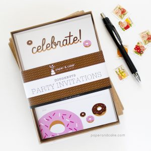 Donuts Fill-In Invitations