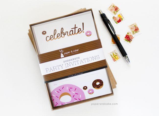 Donuts Fill-In Invitations