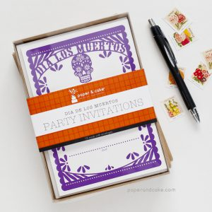 Dia de los Muertos Fill-In Invitations